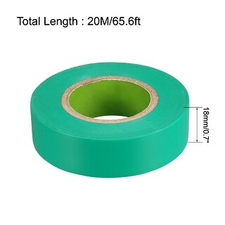 Insulating Tape 18mm x20M x 0.1mm  PVC Electrical Tape Max. 600V Green 2pcs (Green)