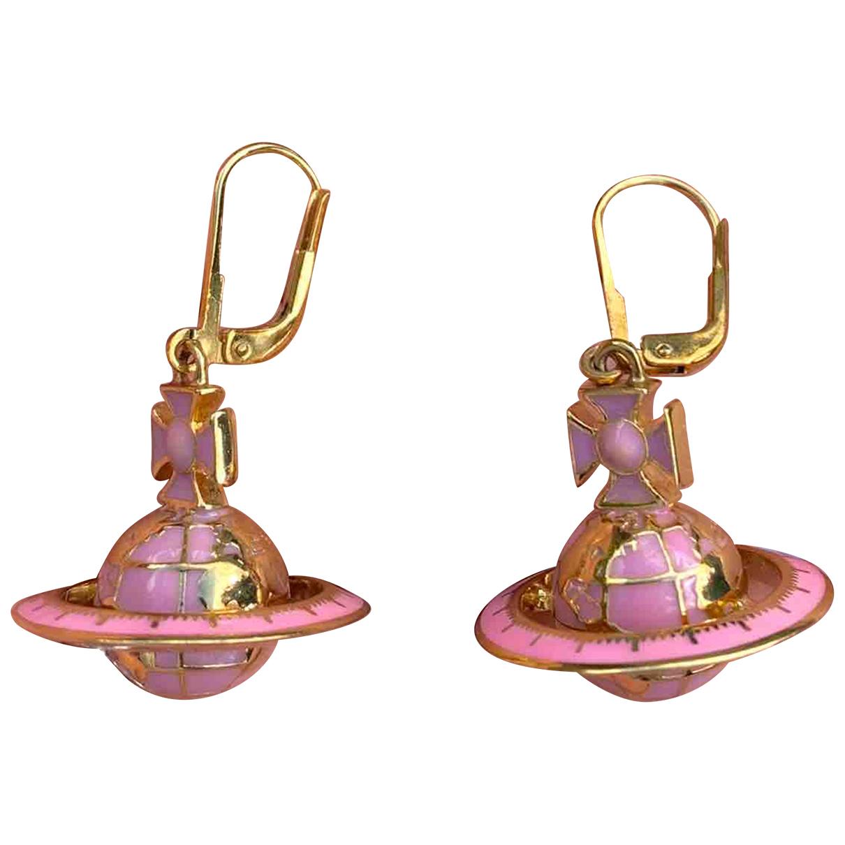 Vivienne Westwood - Boucles doreilles   pour femme en metal - dore