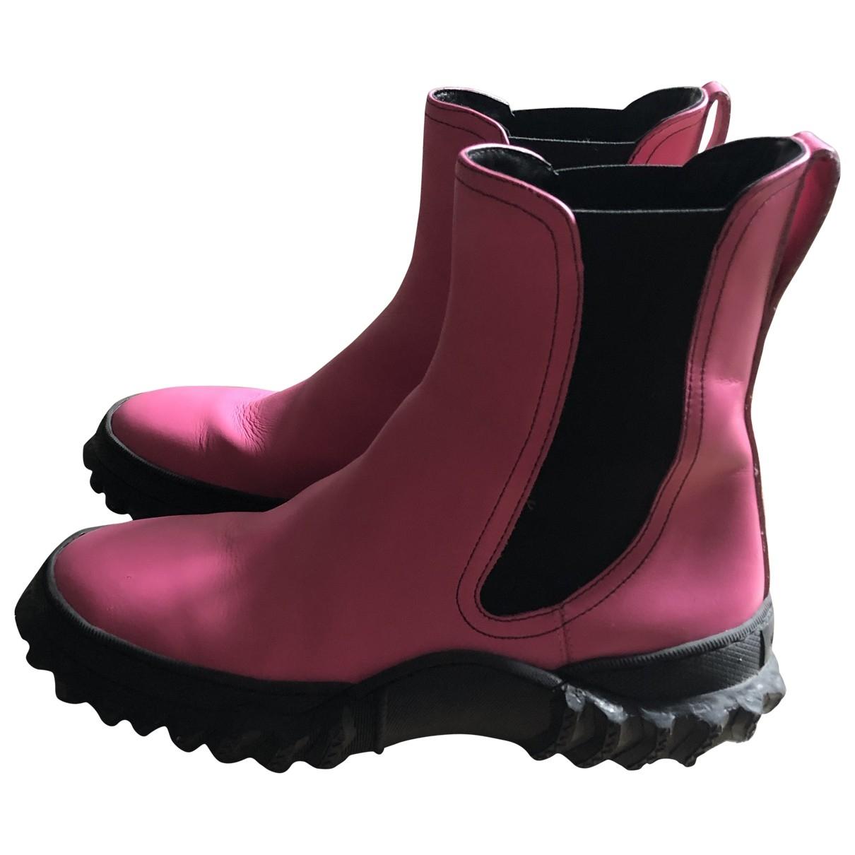 Marni - Boots   pour femme en cuir - rose