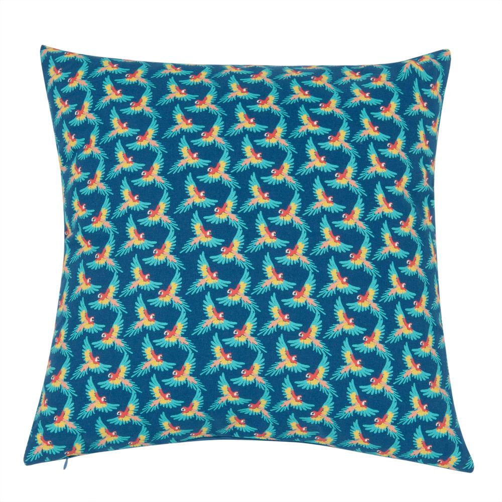 Kissenbezug aus Baumwolle mit Papageien-Muster 40x40