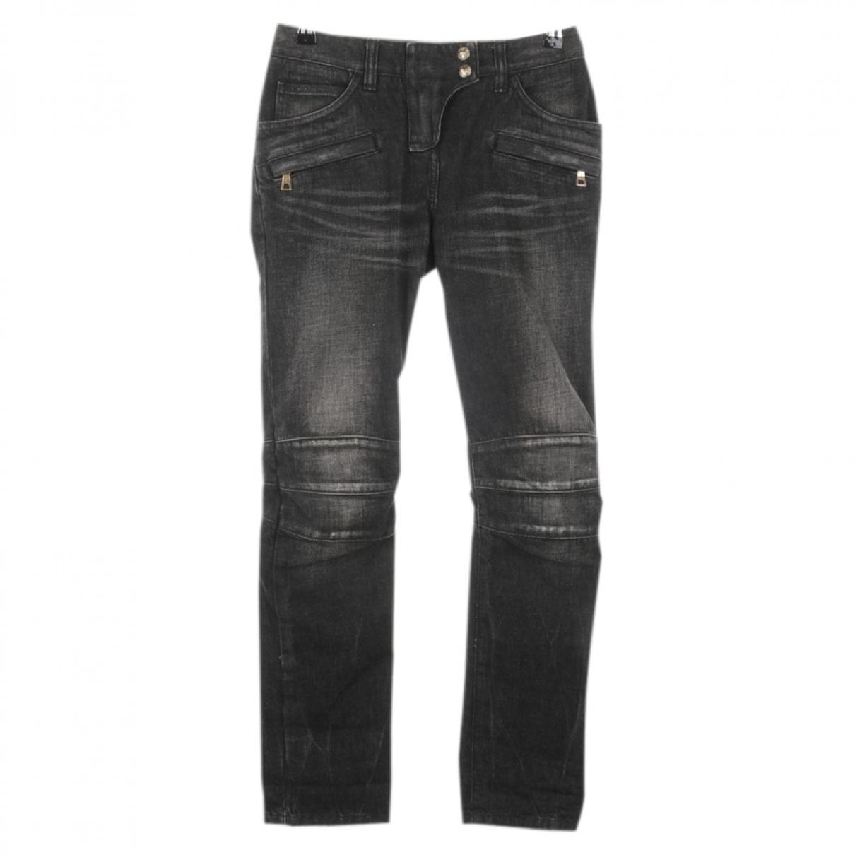 Balmain \N Black Denim - Jeans Jeans for Women 34 FR
