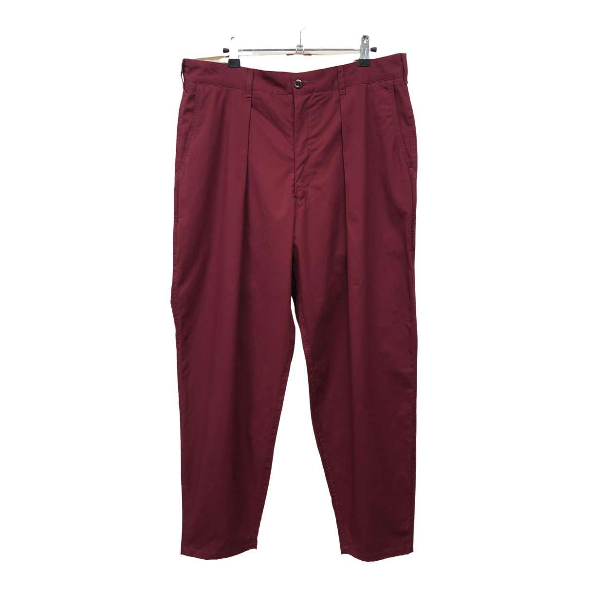 Monitaly \N Red Cotton Trousers for Men 34 UK - US