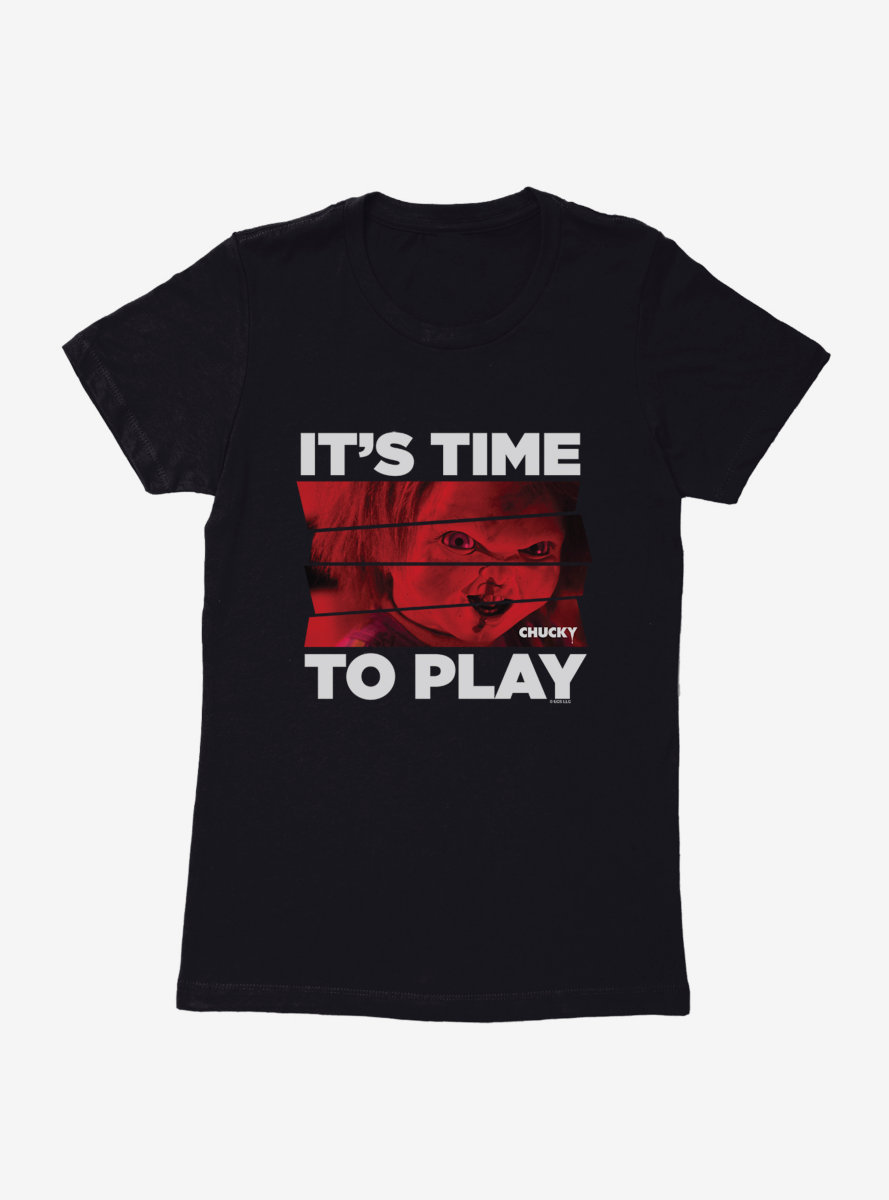 Chucky Time To Play Womens T-Shirt