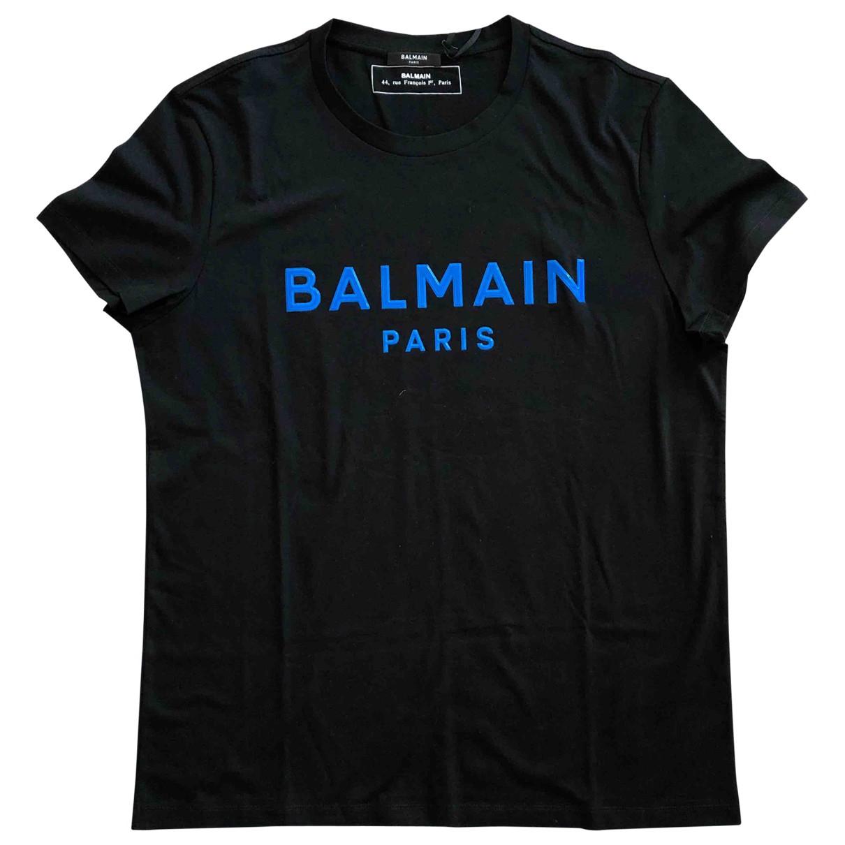 Balmain \N Black Cotton T-shirts for Men XL International