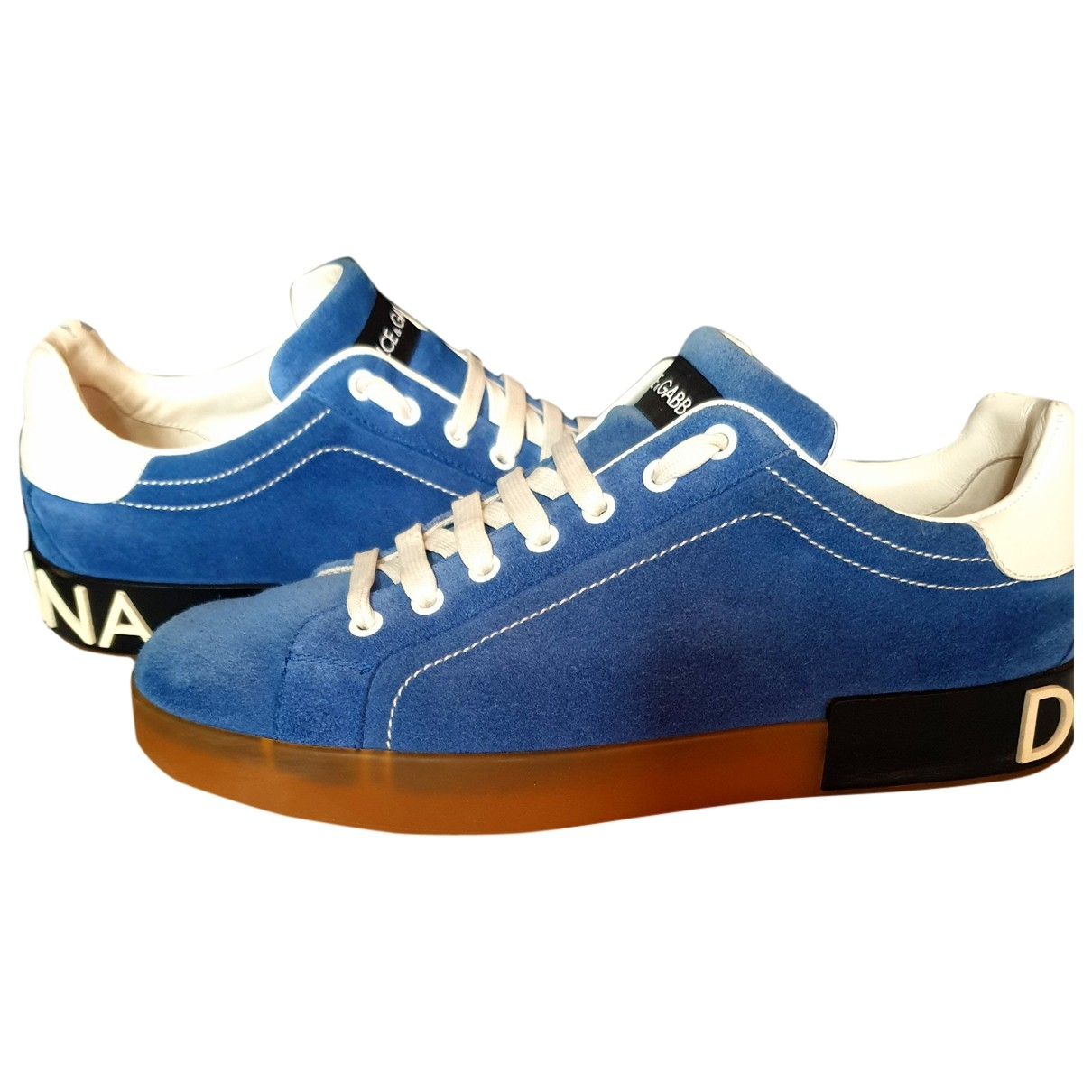 Dolce & Gabbana - Baskets Portofino pour homme en suede - bleu