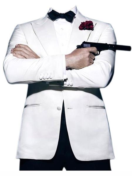 james bond ~ Daniel Craig Look Suit Tuxedo White