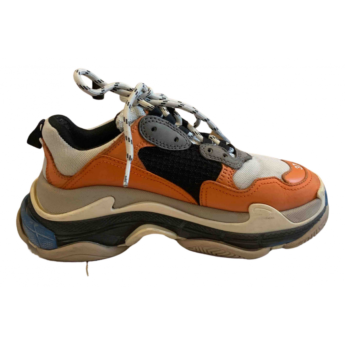 Balenciaga - Baskets Triple S pour femme en toile - orange