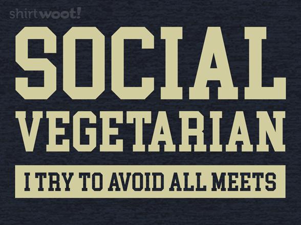 Social Vegetarian T Shirt