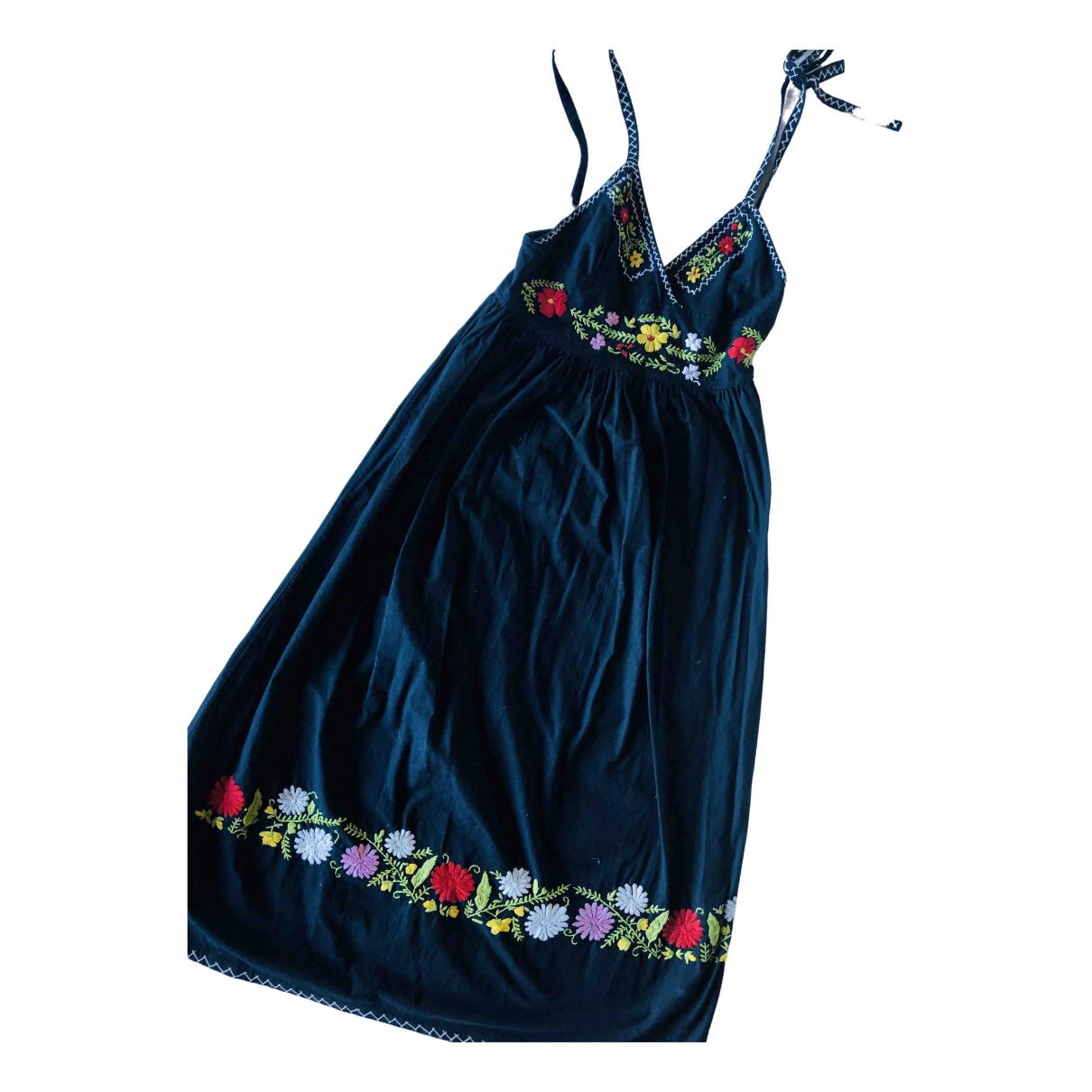 Candela \N Kleid in  Schwarz Baumwolle