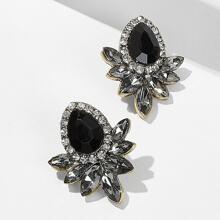 Gemstone Stud Earrings 1pair