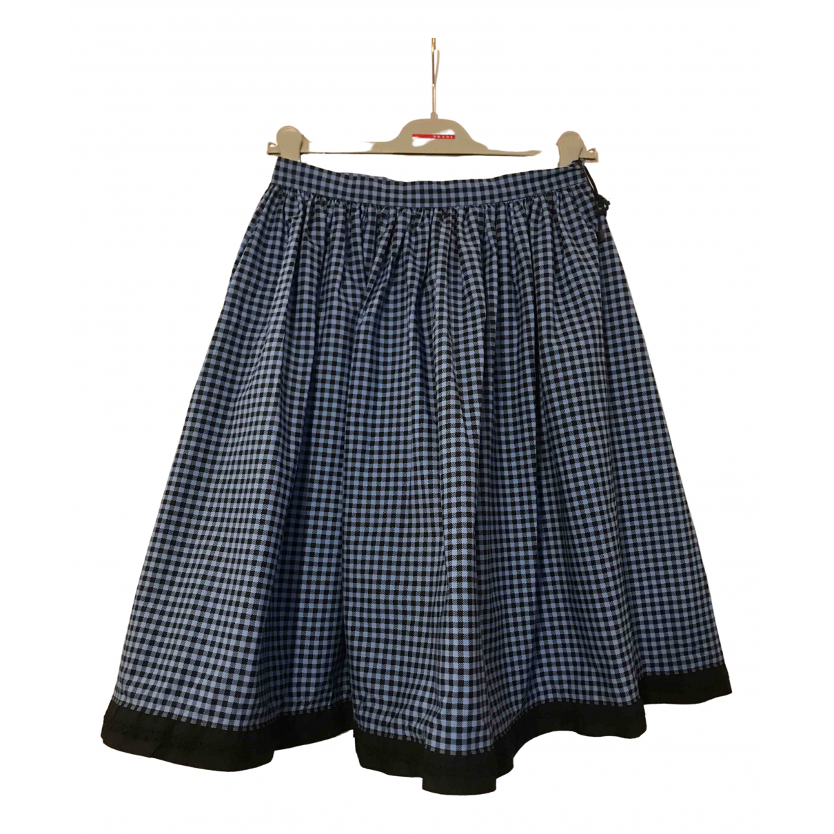 Prada N Blue Cotton - elasthane skirt for Women 40 IT