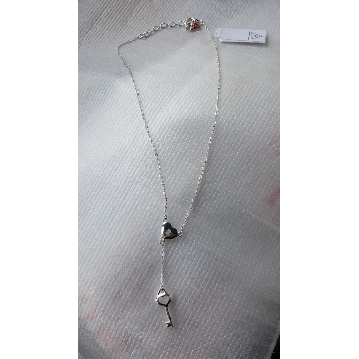 Guess \N Kette in  Silber Metall