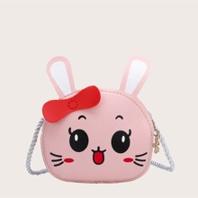 Kids Cartoon Rabbit Design Crossbody Bag