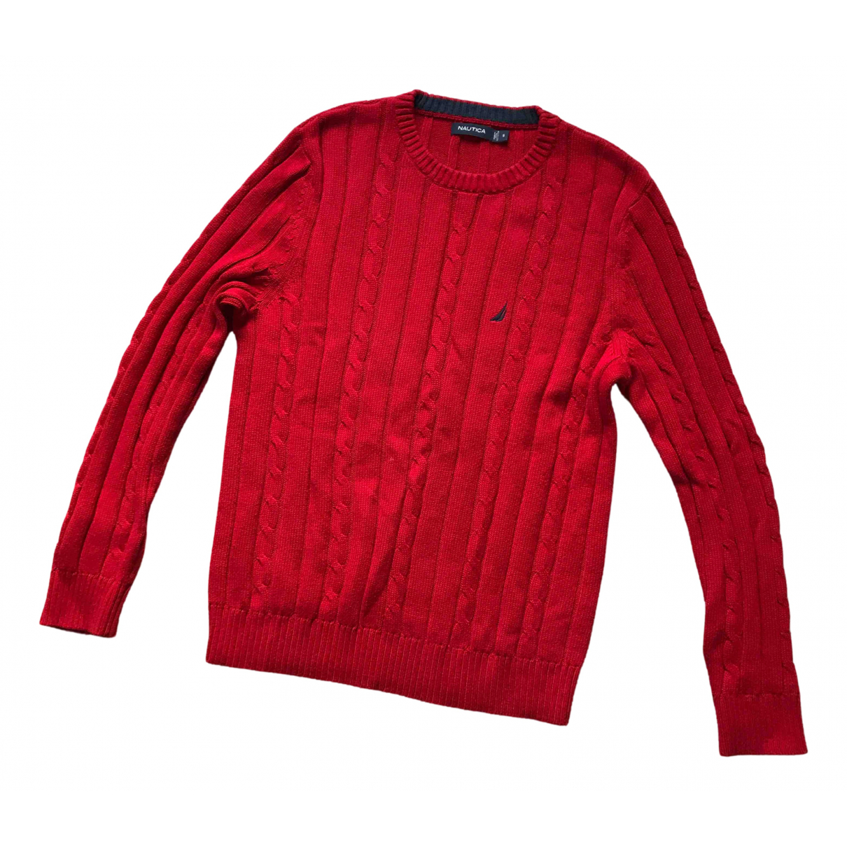Non Signé / Unsigned N Red Cotton Knitwear & Sweatshirts for Men S International