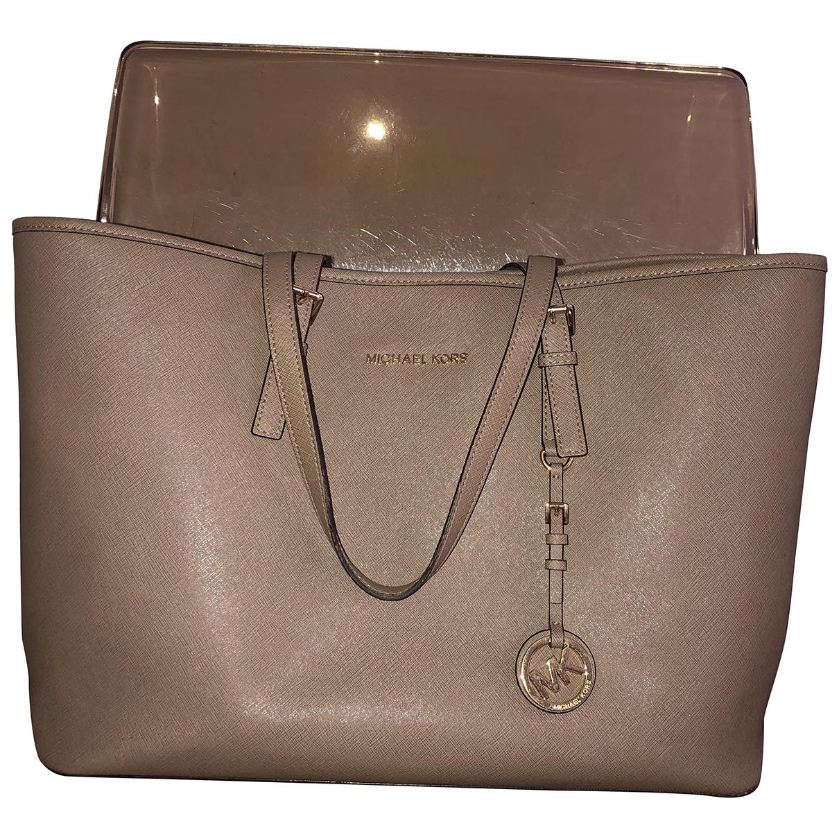 Michael Kors Jet Set Grey Leather handbag for Women N
