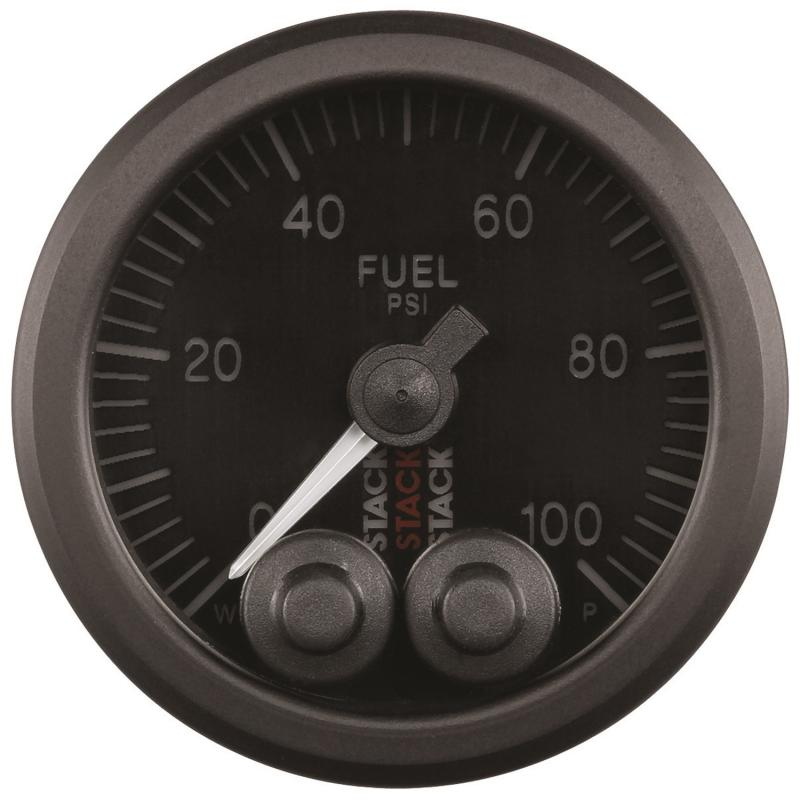 AutoMeter Gauge FuelP Pro-Cntrl 52mm Blk 100psi