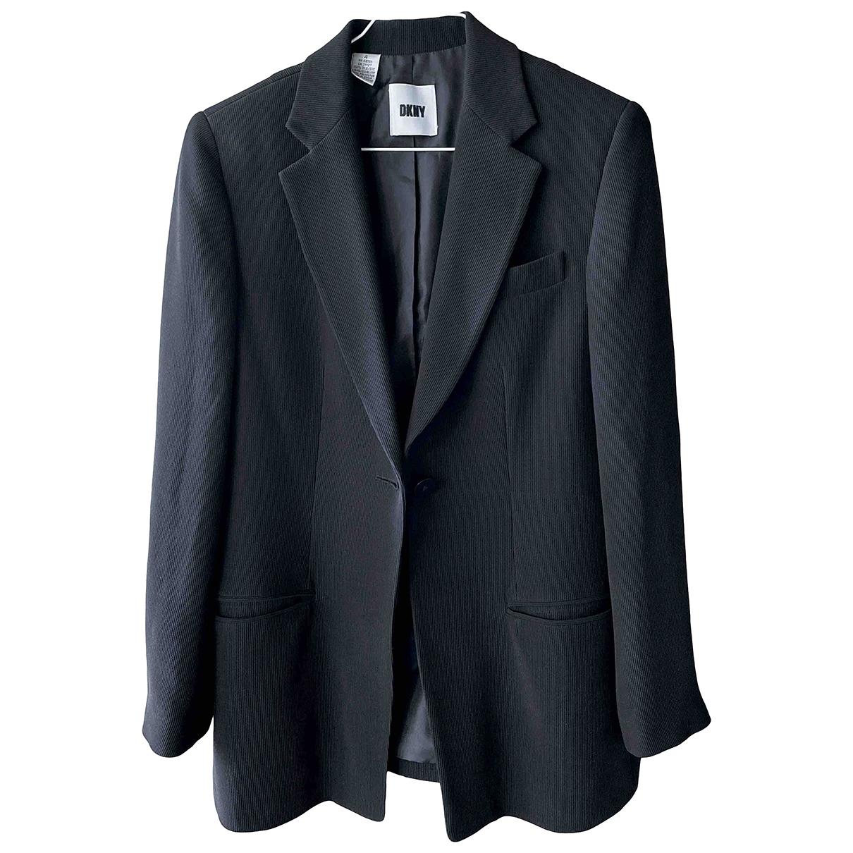 Dkny \N Black Silk jacket for Women 4 0-5