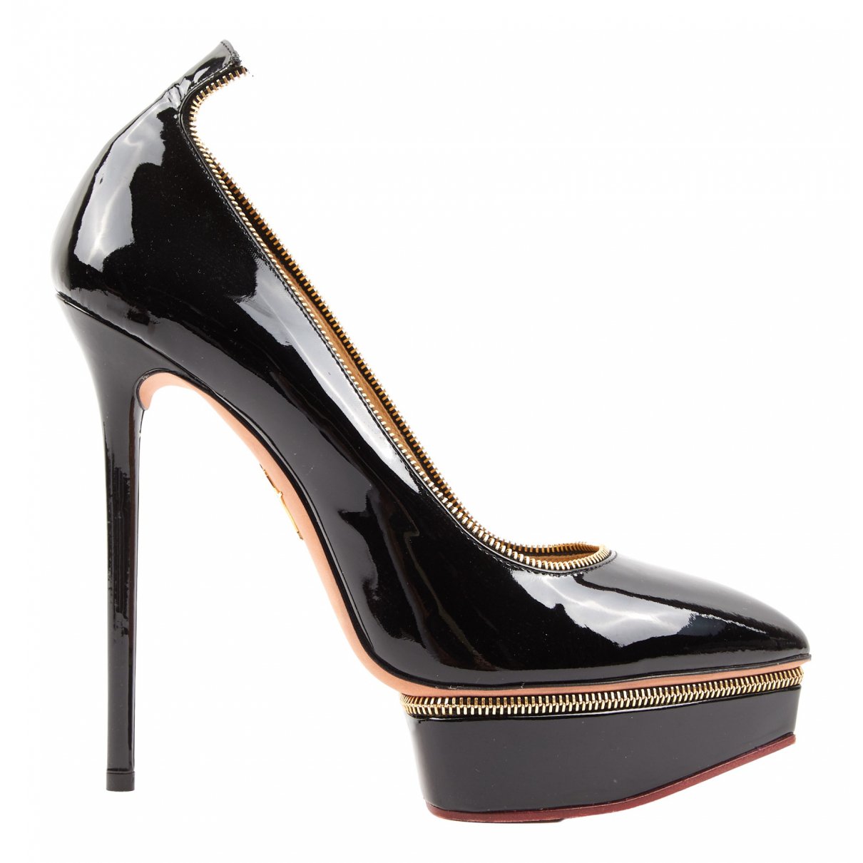 Charlotte Olympia N Black Patent leather Heels for Women 39 EU