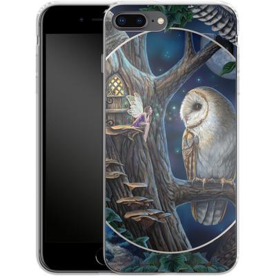 Apple iPhone 7 Plus Silikon Handyhuelle - Owl Montage von Lisa Parker