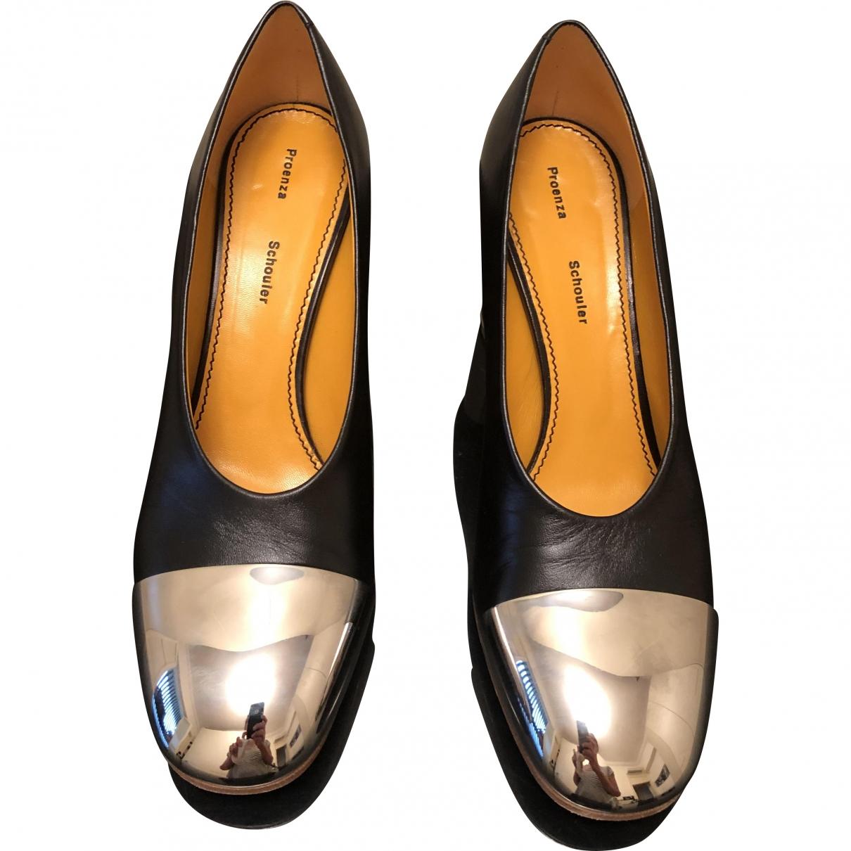 Proenza Schouler \N Black Leather Heels for Women 38.5 EU