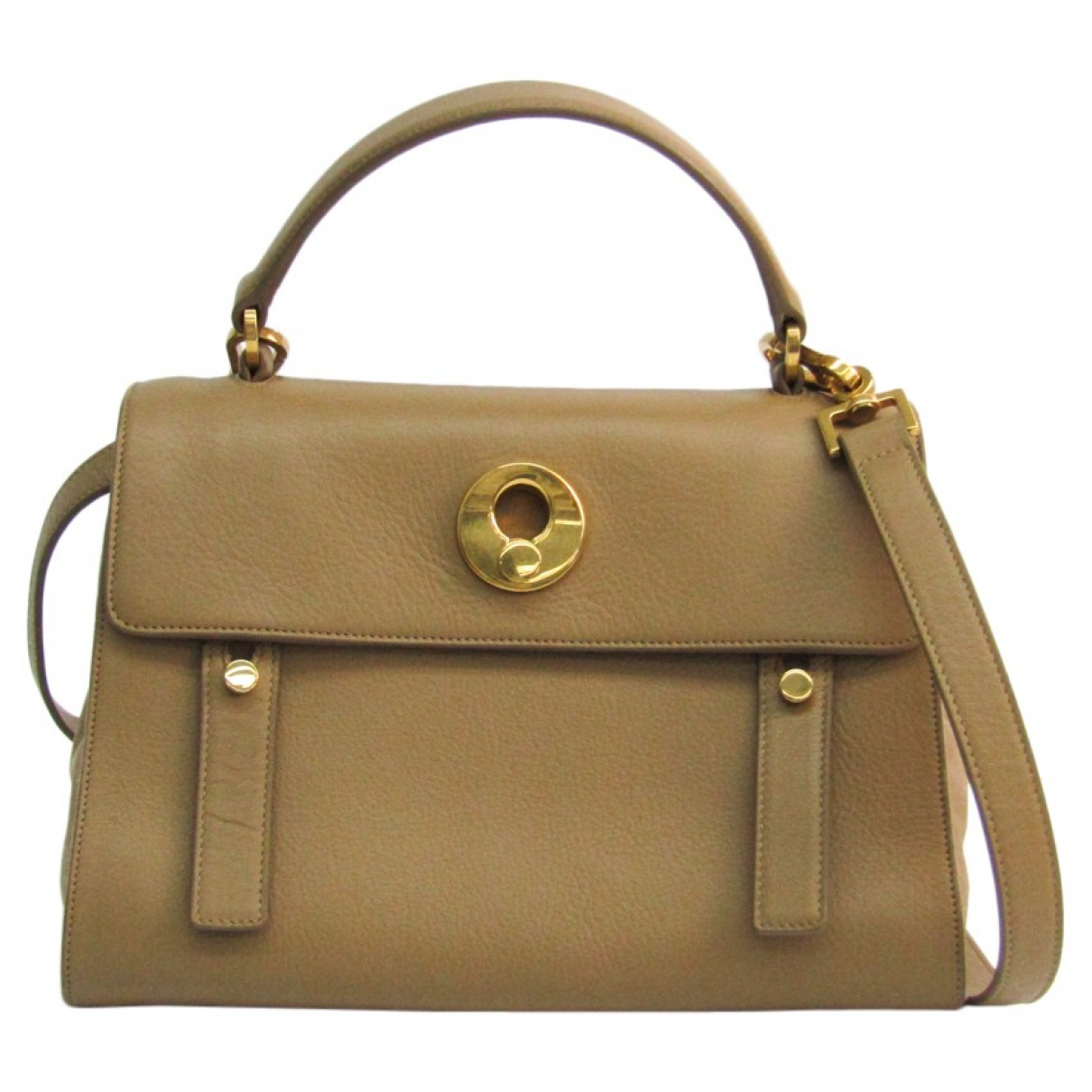 Saint Laurent Muse II Beige Leather handbag for Women \N