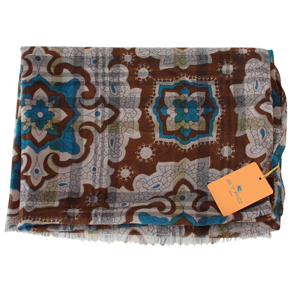 Etro N Brown Cashmere scarf for Women N