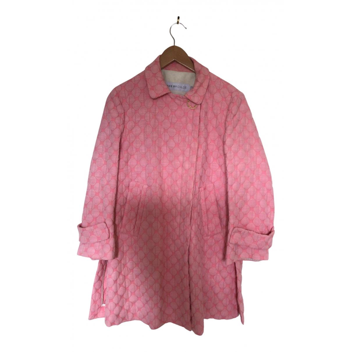 See By Chloe - Manteau   pour femme en coton - rose