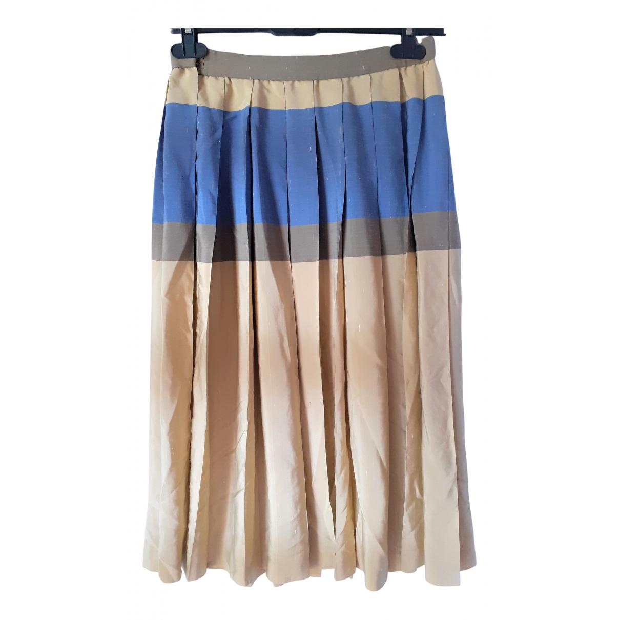 Mila Schon Concept - Jupe   pour femme en soie - beige