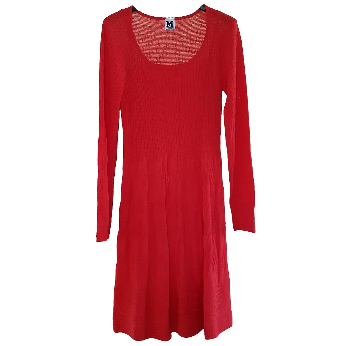 M Missoni \N Kleid in  Rot Baumwolle - Elasthan