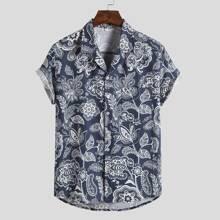 Shirt mit Blumen & Paisley Muster