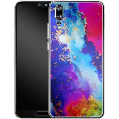 Huawei P20 Silikon Handyhuelle - Cosmic Swirl II von Stella Lightheart