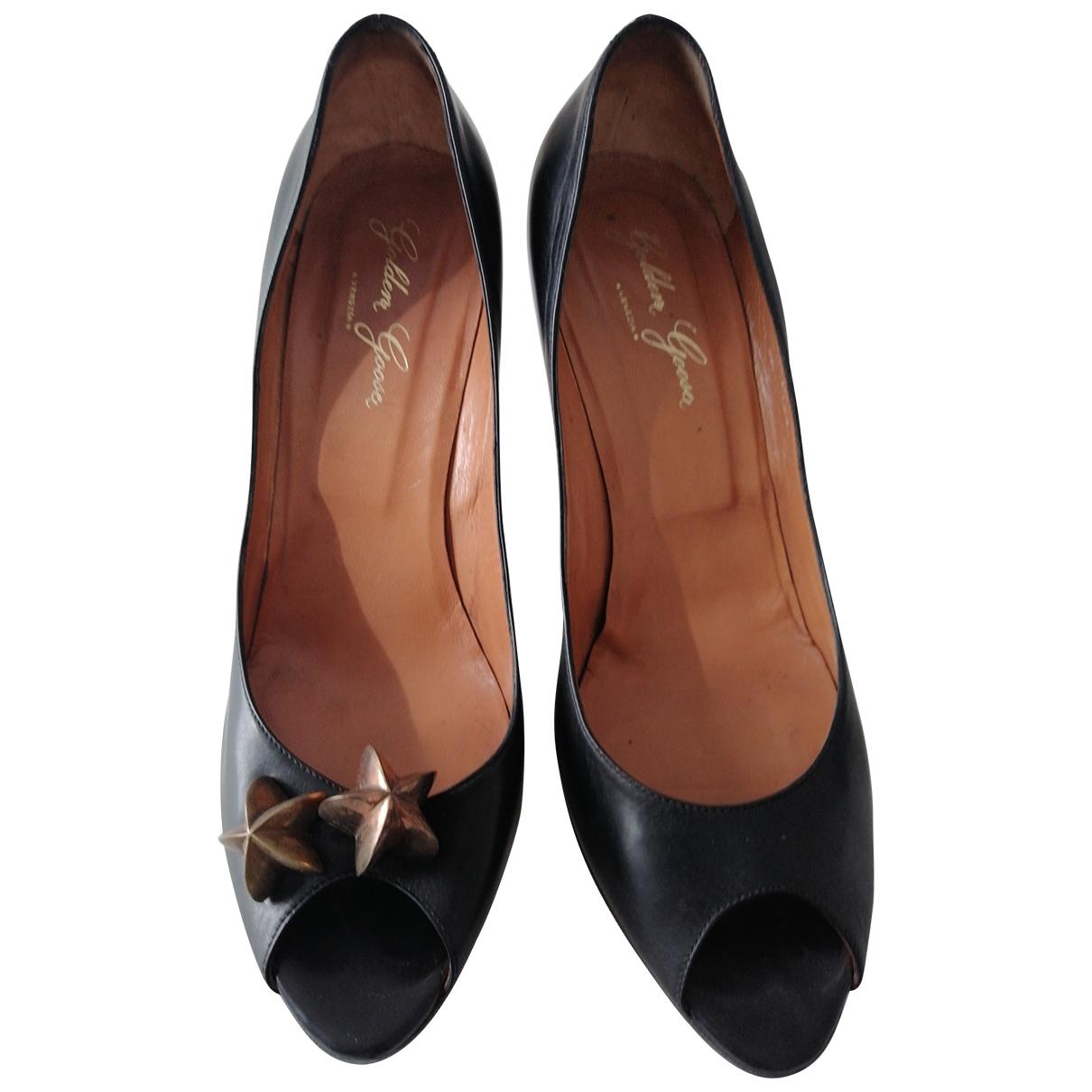 Golden Goose - Escarpins   pour femme en cuir - noir