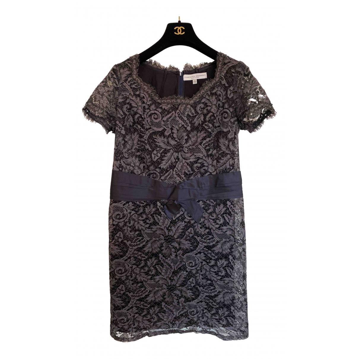 Carolina Herrera - Robe   pour femme en coton - gris