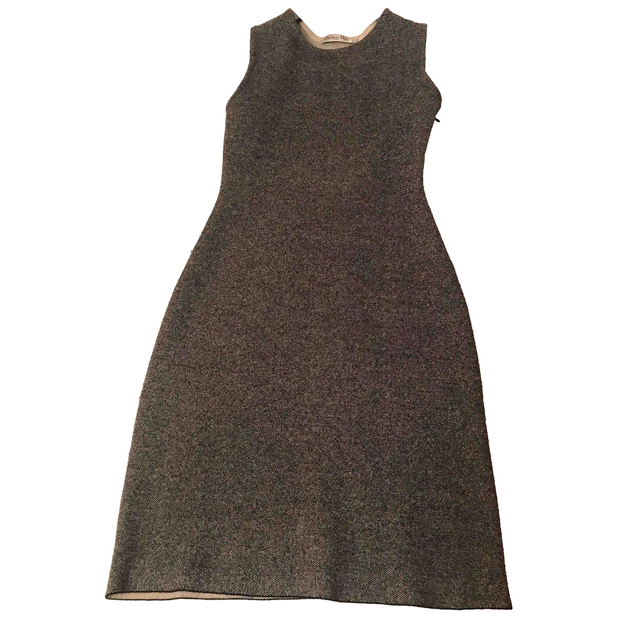 Dior N Grey Wool dress for Women 36 FR