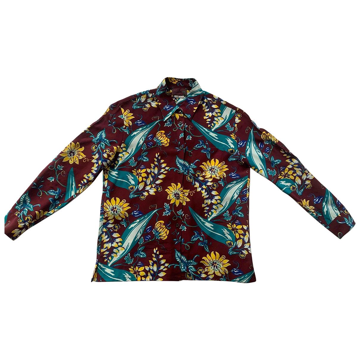 Prada - Chemises   pour homme en soie - bordeaux