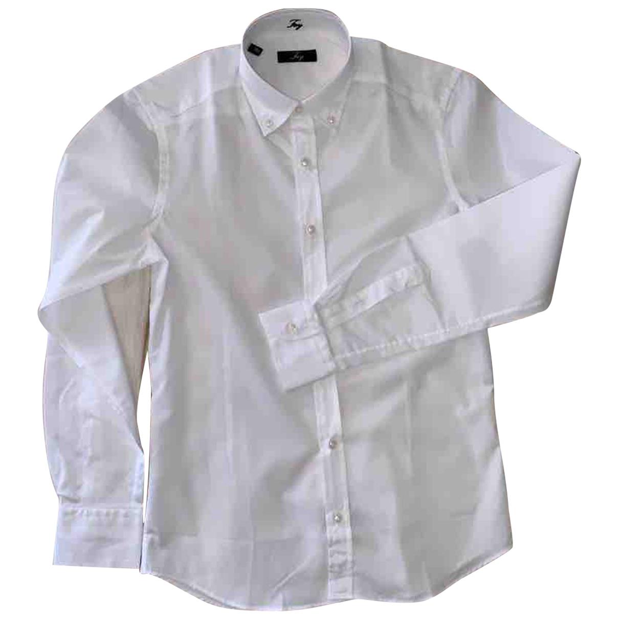 Fay \N Hemden in  Weiss Baumwolle