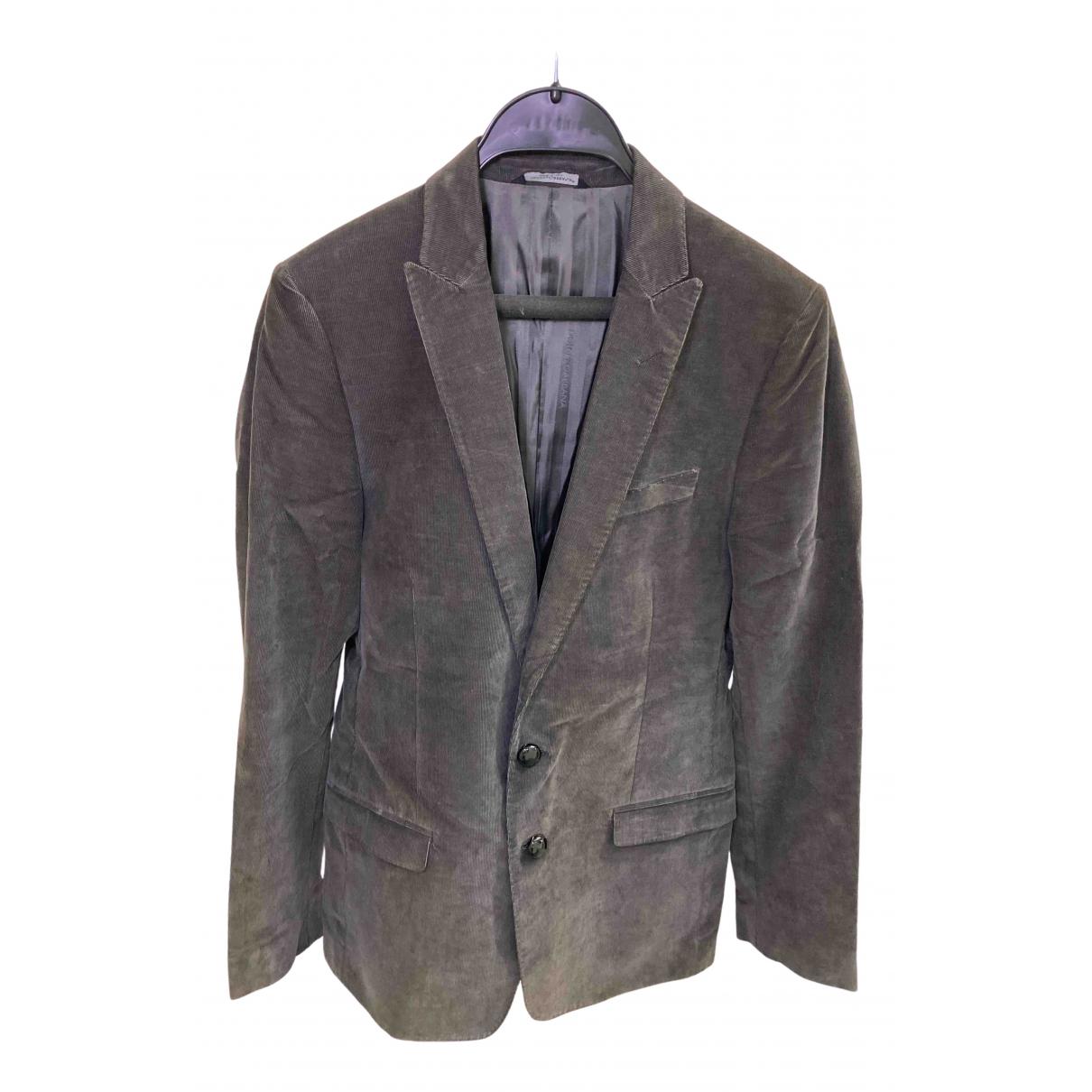 Dolce & Gabbana - Vestes.Blousons   pour homme en coton - marron