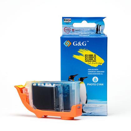 Canon BCI-3ePC cartouche d'encre compatible cyan photo - G&G™