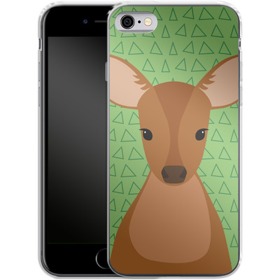 Apple iPhone 6s Silikon Handyhuelle - Deer on Green von caseable Designs