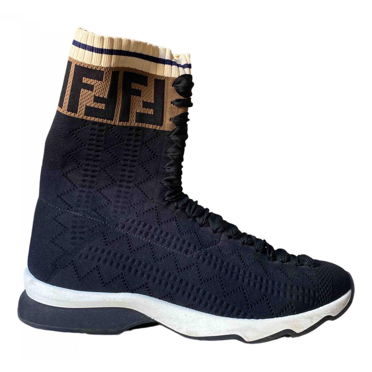 Fendi \N Black Cloth Boots for Women 39 IT