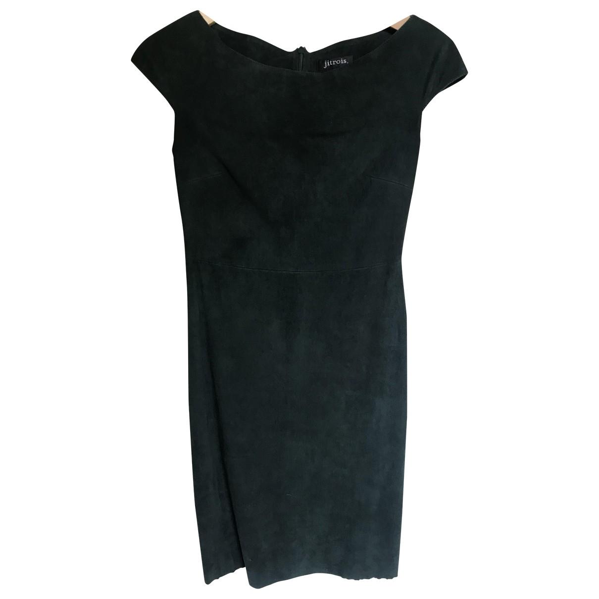 Jitrois \N Kleid in  Gruen Veloursleder