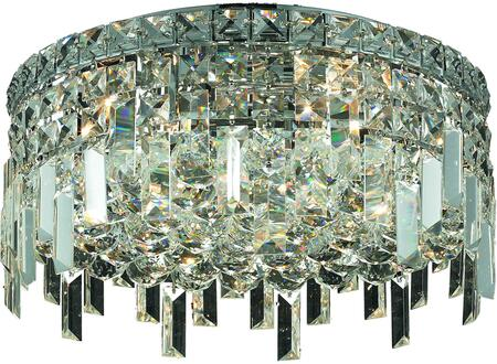 V2031F16C/RC 2031 Maxime Collection Flush Mount D:16In H:7In Lt:5 Chrome Finish (Royal Cut