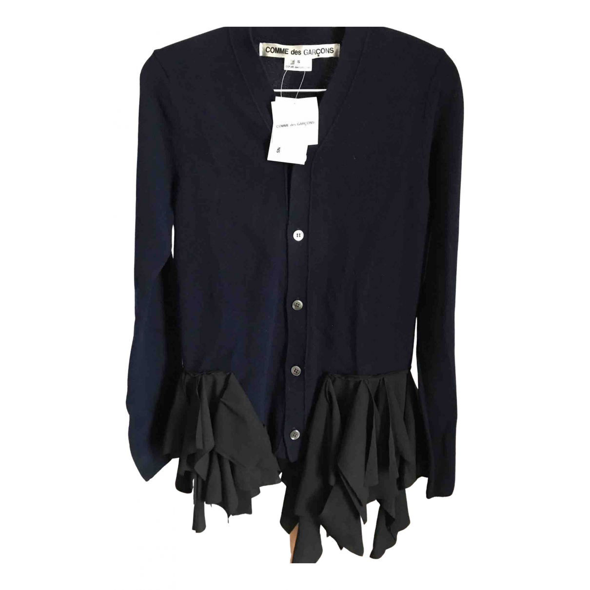 Comme Des Garcons \N Pullover in  Marine Wolle