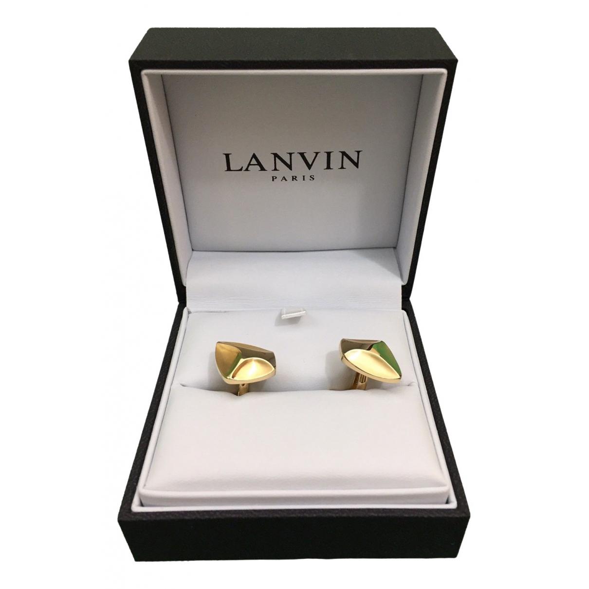 Lanvin \N Manschettenknopfe in  Gold Metall