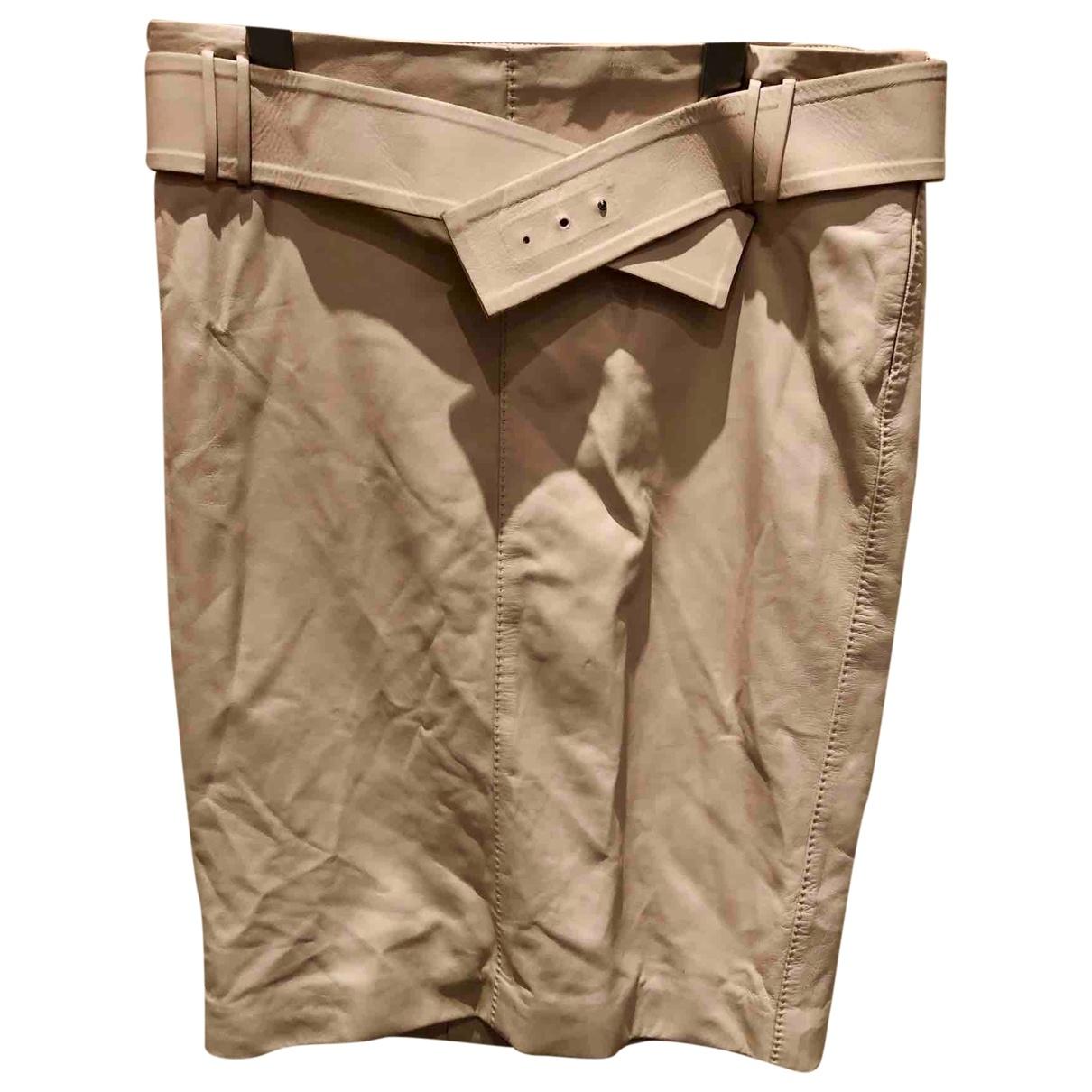 Gucci \N Ecru Leather skirt for Women 40 IT
