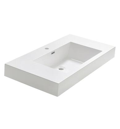 Fresca FVS8005WH Valencia 40 White Integrated Sink /
