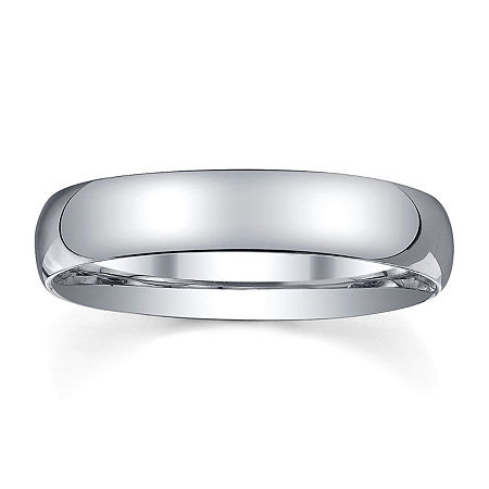 4mm Silver Domed Mens Wedding Ring, 14 , No Color Family