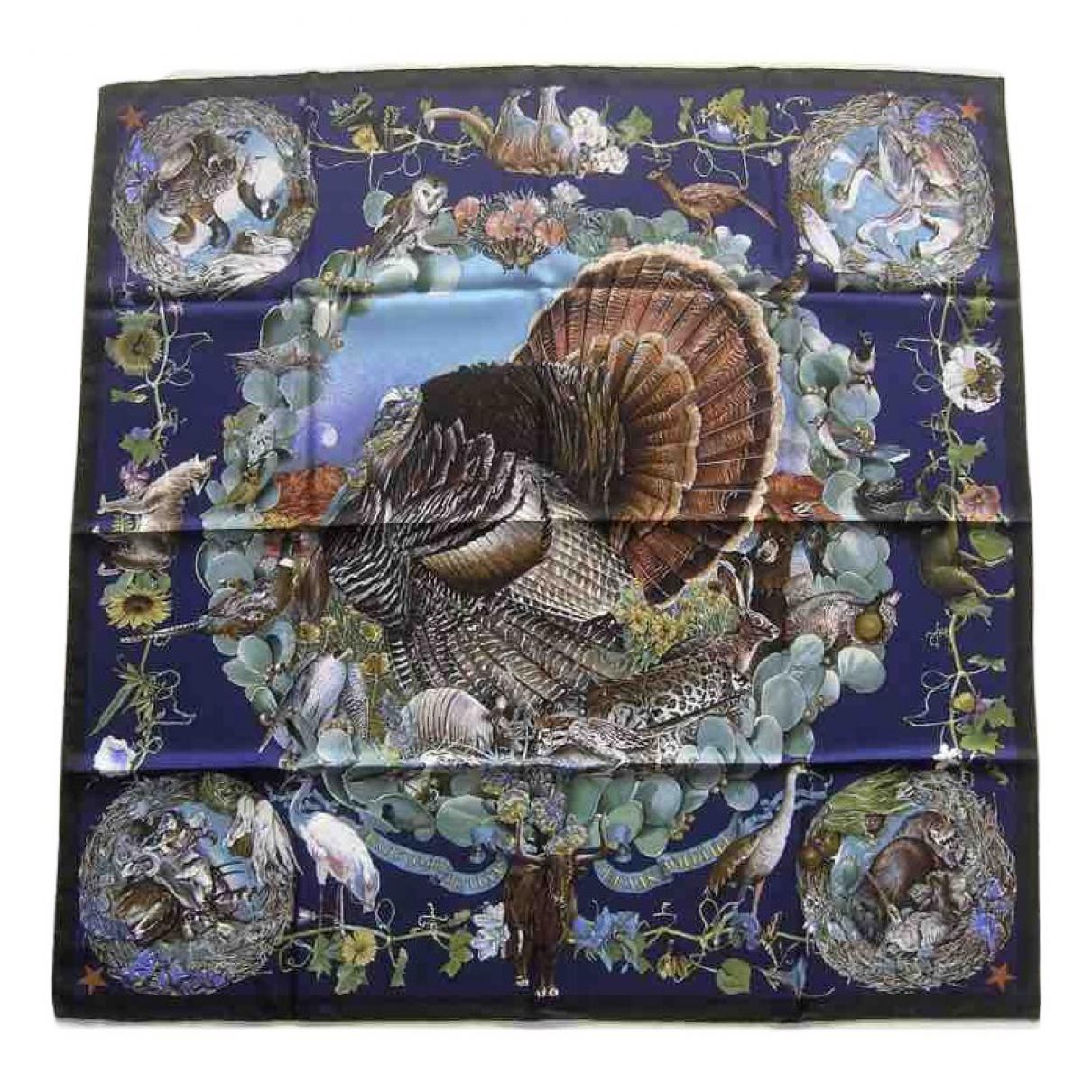 Hermès Carré 90 Blue Silk Silk handkerchief for Women N