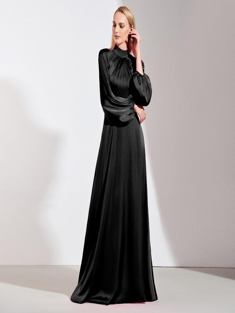 Ericdress A Line High Neck Long Sleeves Evening Dress