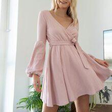 Vestidos Cinta Liso Elegante